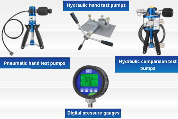 images Test Pumps and Digital Gauges